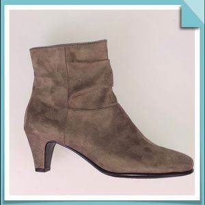 Aerosoles Taupe Sueded Ankle Bootie Size 7.5